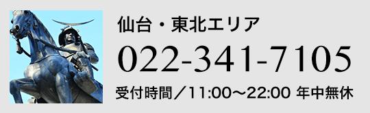 仙台・東北エリア022-341-7105